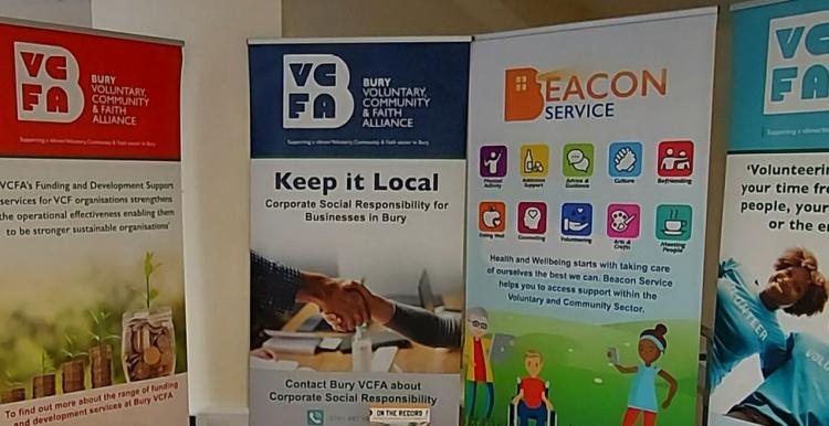 Beacon pop up banners