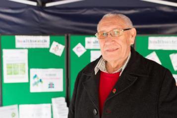 Older man at Healthwatch stall