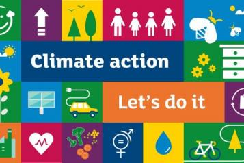 Climate Action nature image block