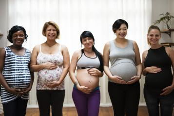 Five pregnant women