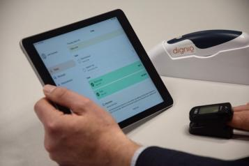 heart monitoring on a portable devise