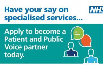 Patient Public Voice Partner banner