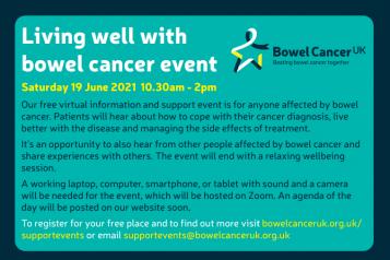 bowel cancer event flyer